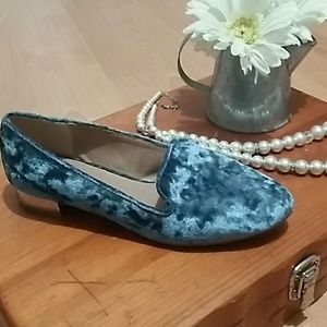 👒Report Aspen blue velvet loafers Inv4/30👒